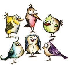 Sizzix Framelits-stanssit: Bird Crazy (18 osaa) 660954