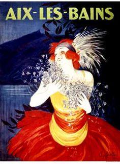 Aix Les Bains Vintage Art Giclee Print