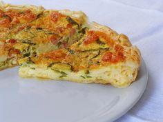 Torta Salata di Zucchine, Pancetta e Formaggio
