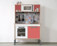 "IKEA hack: Pimp your Ikea DUKTIG play kitchen with the sticker set ""FRUKTIG""…"