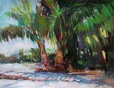 Dock & Palms by Mary Maxam
