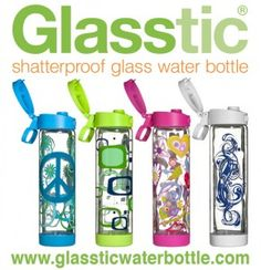 The choice is yours: we're giving away winner's choice of a Glasstic Shatterproof Glass Water Bottle, so whichever bottle you want you'll get if you are selected as the winner.