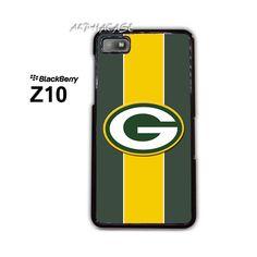 Green Bay Packers on Line BB BlackBerry Z10 Z 10 Case