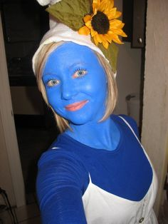 made my own #smurf #costume #halloween