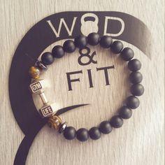 Pulsera Mancuerna Gym Life Agate Stone Motivación Fit Mom Live Fit Fitness,Workout,Bodybuilding,Coach Regalo Deporte No Pain No Gain Cross de WodAndFit en Etsy