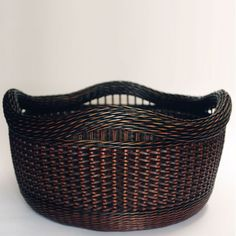 Black and Brown Zig-Zag Weave Basket by Peeta Tinay