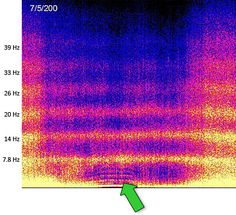 Schumann resonance- the earths frequency is increasing as it shifts from 3D to 4D. Spectrogram
