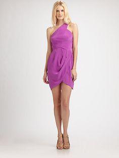 Zimmermann - Silk One-Shoulder Dress - Saks.com