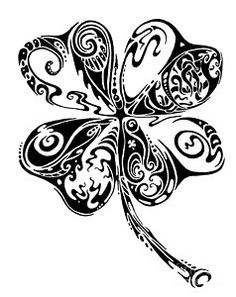 Tribal Shamrock Print by John Benko