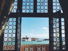 Window with a view to San Giorgio Maggiore island, from Palazzo Ducale September, 2017