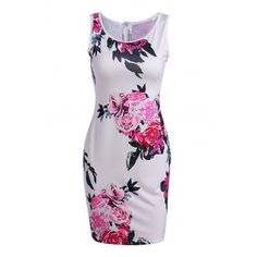 SHARE & Get it FREE | Vintage Round Collar Sleeveless Zippered Floral Print Women's DressFor Fashion Lovers only:80,000+ Items·FREE SHIPPING Join Dresslily: Get YOUR $50 NOW!