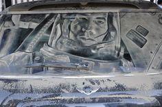 Ground control to Major Tom…. #InkedMagazine #art #dirt #car #dirtycar #cool #space #astronaut