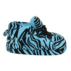 f66ac7050 Snooki Comfy Feet Blue Zebra Slippers Review