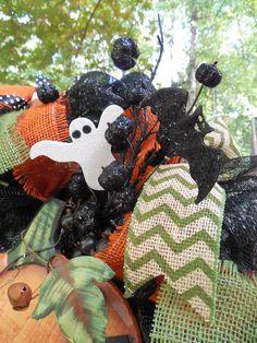 Halloween Halloween wreaths  Halloween pumpkin by ChickadeeLore, $85.00