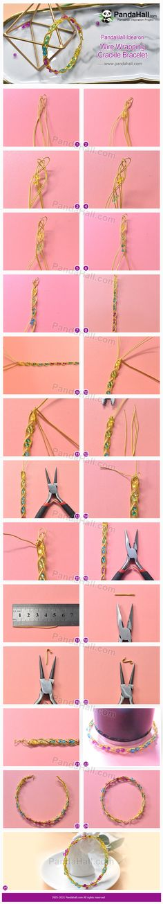 Handmade Wire Jewelry, Diy Jewelry, Crackle Glass, Diy Accessories, Copper Wire, Diy Tutorial, Diy Fashion, Wire Wrapping, Glass Beads