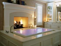 Fireplace + Overflow Tub = Amazing!!