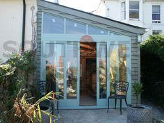 lean to conservatory side garage Rustic Pergola, Curved Pergola, Pergola Attached To House, Pergola Shade, Pergola Plans, Pergola Ideas, Pergola Kits, Covered Pergola, Gardens