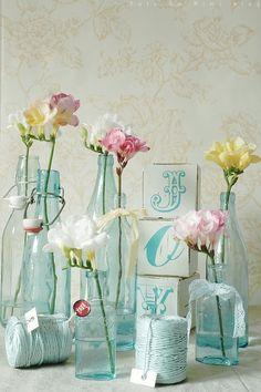 bottles & flowers
