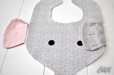 elephant bib & binkie holder pattern/tutorial