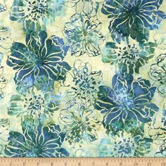 Designed for Hoffman International Fabrics, this Indonesian batik is perfect for quilting, craft projects, apparel and home décor accents. Colors include shades of blue and shades of green.