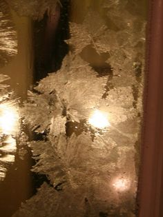 Frost your windows using Epsom Salt.