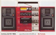 Recording Equipment, Audio Equipment, 1980s Boombox, Sony Electronics, Tape Recorder, Music Images, Hifi Audio, Audiophile, High Tech Gadgets