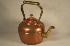 ODI Copper Teapot Tea Pot Kettle Patina by SnapshotsThroughTime