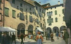 Piazza delle Erbe Belluno Dolomiti Veneto Italia
