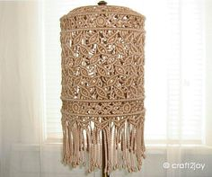 Macrame lampshade for floor or table lamp by craft2joy on Etsy, $65.00