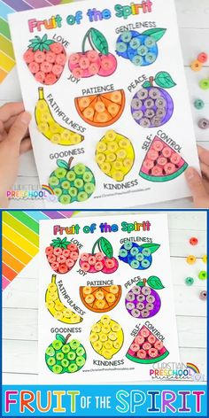 Fruit of the Spirit Coloring Page & Preschool Craft Activity