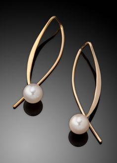 Ben Dyer: Gold & Pearl Earrings