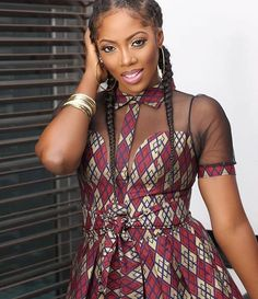 Tiwa Savage Stuns Beautifully in Ankara Outfit - Wedding Digest NaijaWedding Digest Naija