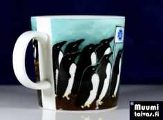 Arabia penguin mug SATL. Designer: Heljä Liukko-Sundström. Only 500 mugs were made. Type: Arabia Teema, 0,3 l.
