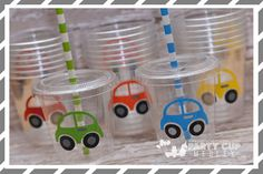 Transportation Birthday Party Cups-Party Favor by PartyCupMedley