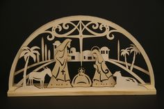 laser cut nativity