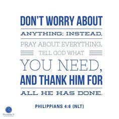 Phil. 4:6 (NLT) #Scripture @proverbs31min