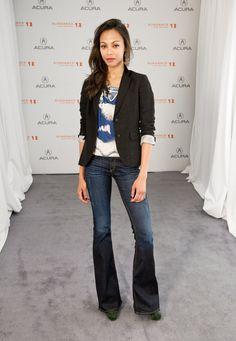 Zoe Saldana always looks so chic... my style obsession.