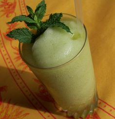 Frozen Mint Julep from Food.com:   If the Kentucky Derby were run in August, all the juleps would be made this way,