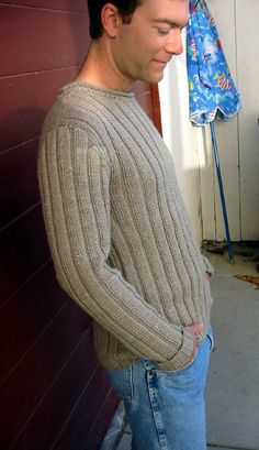 I agreed with this knitter, finding a pattern your man would enjoy wearing for ever. I wanted to do fancy stitches and color changes but OH NO simple is what he wants..this sweater fits the bill for the man in your life!