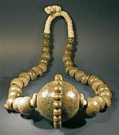 Textured bronze brass beads, from the Yoruba tribe of Nigeria. Ethnic Jewelry, African Jewelry, Indian Jewelry, Leather Jewelry, Metal Jewelry, Antique Jewelry, Ghana, Yoruba, Art Africain