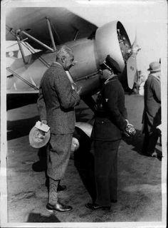 Ernst Udet | Crown Prince Wilhelm in conversation with the master pilot Ernst Udet, Tempelhof, 1934