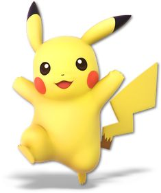 Pikachu as he appears in Super Smash Bros. Ultimate.