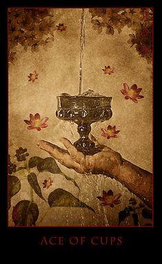 Ace of Cups - Arcadia Tarot by michaelbilotta