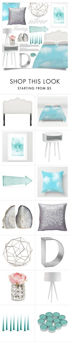 """""""Bedroom - Silver Lining"""" by by-jwp ❤ liked on Polyvore featuring interior, interiors, interior design, home, home decor, interior decorating, GREEN, New Look, Threshold and Gauge"""
