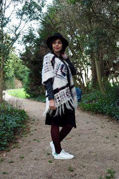 Sweety Mely adopte la #robe #midi (12€ chez BABOU) avec un poncho