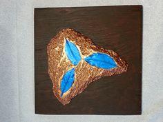Samuel Turner - Blue Leaves Mixed Media Ceramic and Acrylic