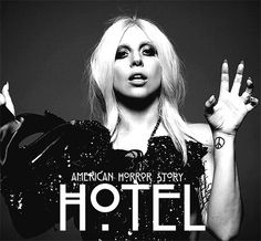 Lady Gaga promoting American Horror Story season five: Hotel.