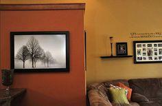 Burnt Orange Paint Colors, Dining Room, Orange Living Room Walls, Living Room Co. Room Paint Colors, House Design, Living Room Paint, Wall Colors, Living Room Orange, Home Decor, Orange Paint Colors, Orange Paint, Living Room Accents