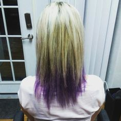Purple and blond hair