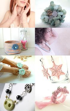 Here is a treasury made by Marie Digne from KazamarieDesigns!  *******  Voici une vitrine offerte par Marie Digne de KazamarieDesigns!    http://www.etsy.com/treasury/MTA1ODQ1NDJ8MjcyMTM2NTE4Nw/pastel-mood